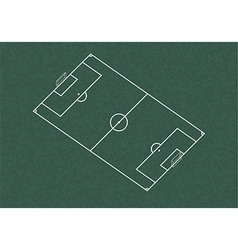 Realistic blackboard drawing football field vector