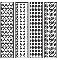 Black and white polygon shape pattern vector