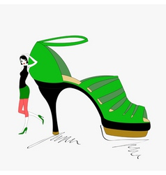 shoe shopping vector image