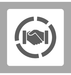 Acquisition diagram icon vector