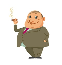 Man smoking cigar vector