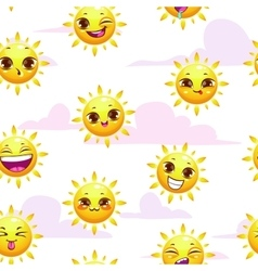 Seamless summer childish pattern vector
