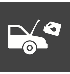 Car and Oil Can vector image