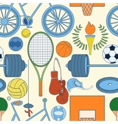 Seamless sport pattern vector