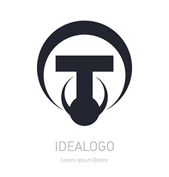 Abstract logo with letter T Logotype design vector image