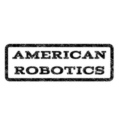 American robotics watermark stamp vector
