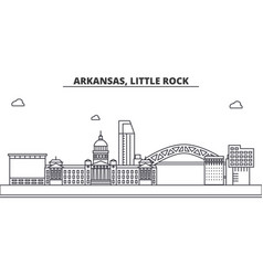 Arkansas little rock architecture line skyline vector