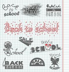 Back to school 4 vector