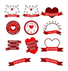 Beautiful valentines day border vector