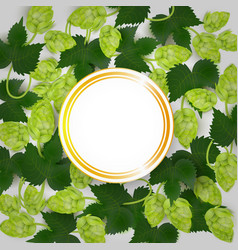 Beer poster with hop leaves and lager mug vector