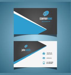 Business card with a modern design vector