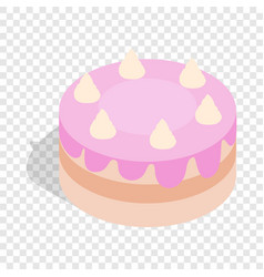 Cake isometric icon vector