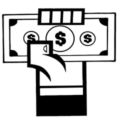 Cartoon businessman with money vector