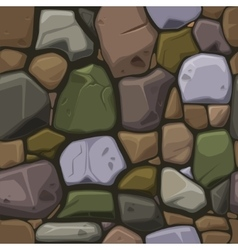Cartoon colors stone texture seamless background vector