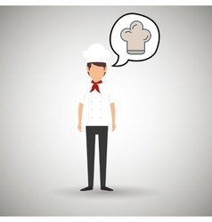 chef cook food restaurant vector image