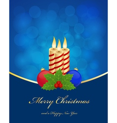 christmas greetings background vector image vector image