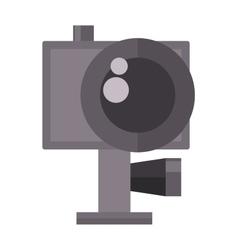 Digital flat photo camera vector image