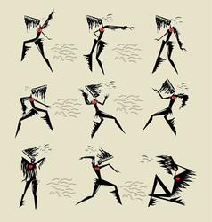 Exotic dance vector