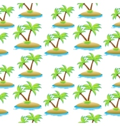 Island palm tree seamless texture summer vector