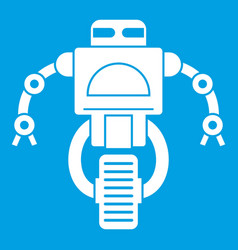 Machine robot icon white vector
