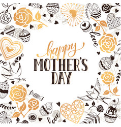 mother day greeting card vector image