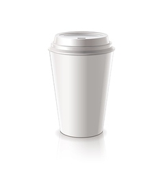 paper coffee cup isolated vector image