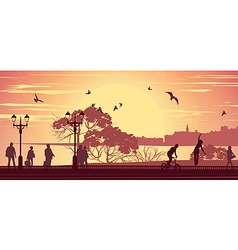Promenade vector image vector image