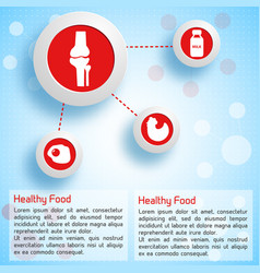 Proper nutrition infographic concept vector