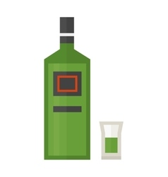 Rum bottle vector
