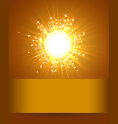 Sky and sun magic blur design with burst rays vector