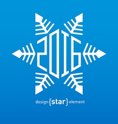 snowflakes for New Year 2016 design vector image vector image
