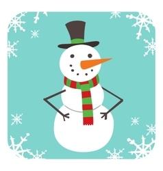Snowman icon flat avatar vector