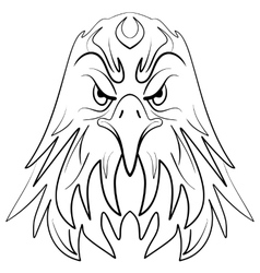 Stylized eagle head emblem vector image vector image