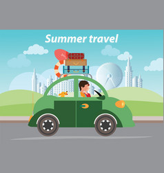 summer travel design vector image