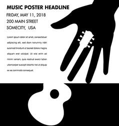 Unusual guitar poster vector