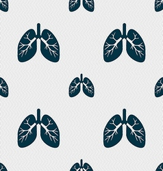 Lungs sign seamless pattern with geometric texture vector