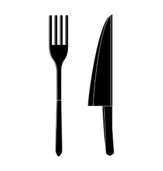 Knife and fork icon simple style vector