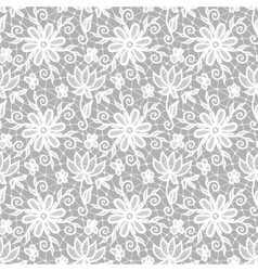 Seamless white lace vector image