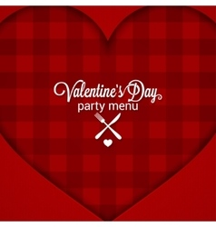 Valentines day dinner party menu background vector