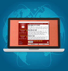 Virus malware ransomware wannacry encrypted your vector