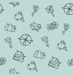 candy concept icons pattern vector image