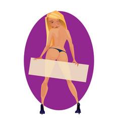 digital funny cartoon blonde vector image
