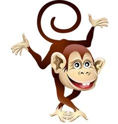 Cheerful monkey vector