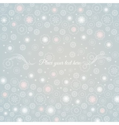 Grey background of flowers with for message vector