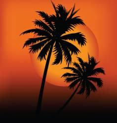 sunset design vector image