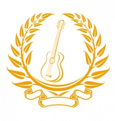 guitar symbol vector image