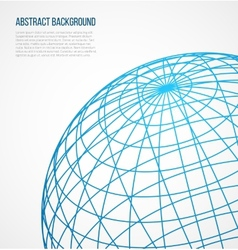 Abstract globe sphere from blue lines on white vector