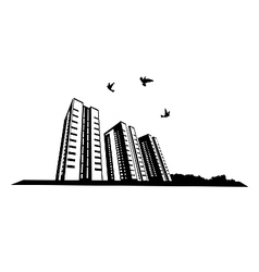 Birds in the city vector