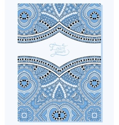Blue colour ornament on floral background with vector
