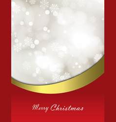 christmas festive background with bokeh vector image vector image